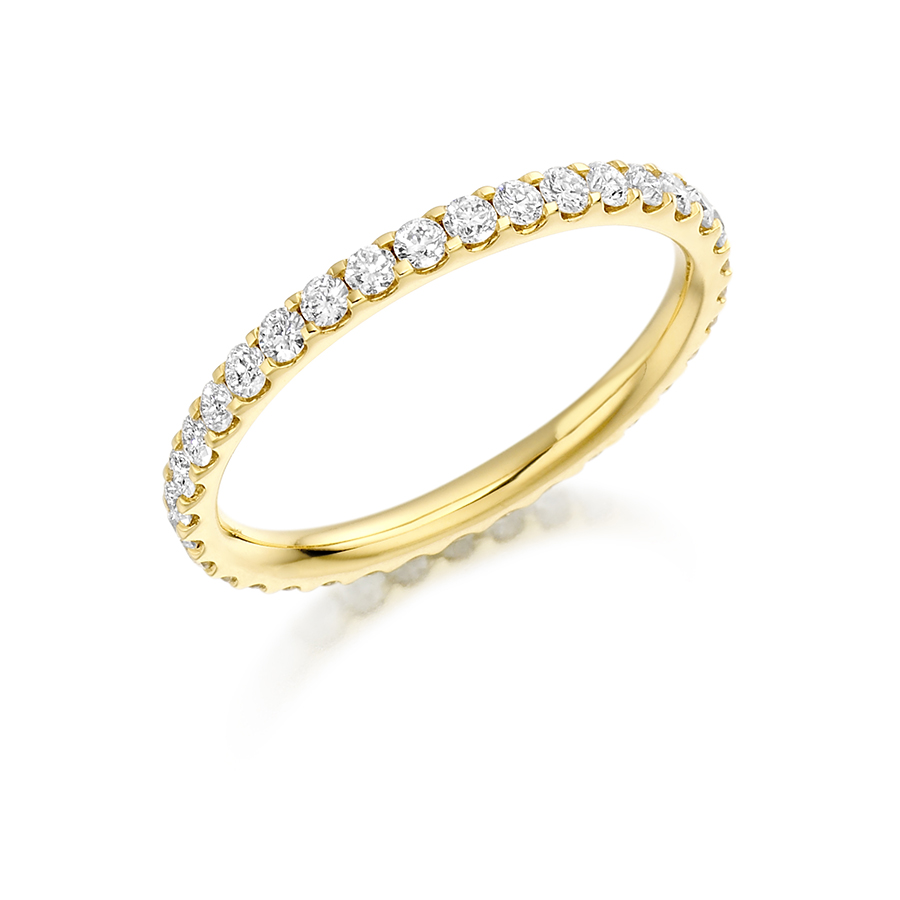 wedding rings diamond yellow gold scallop set band fet 1022y 01 1022