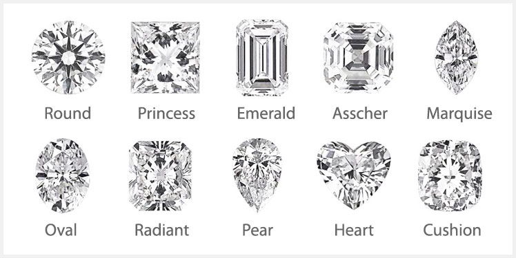 Top Diamonds Shapes When Choosing An Engagement Ring