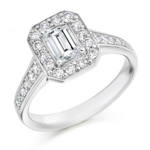 Halo Set Prince Cut Diamond