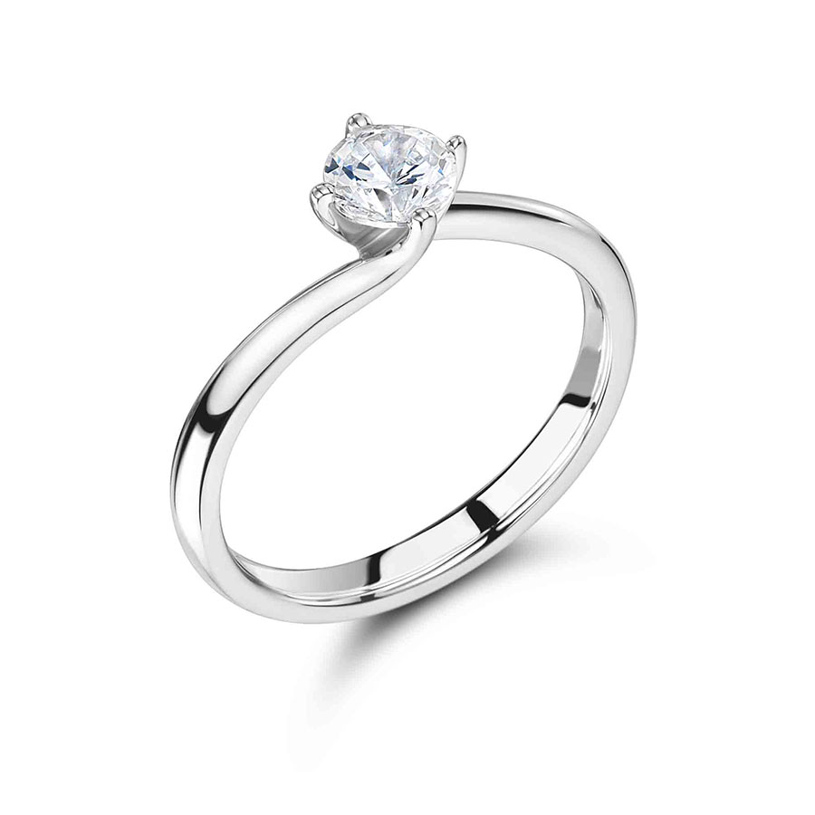 Round Solitaire with Low Twist Setting - ER2405