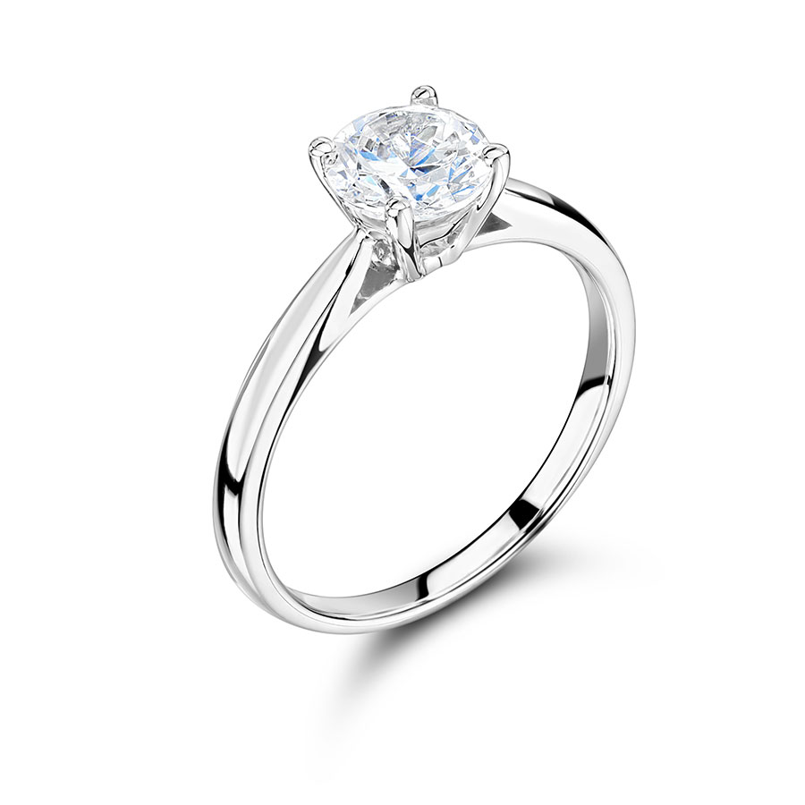 Round Solitaire with Tapered Shoulders - ER2370
