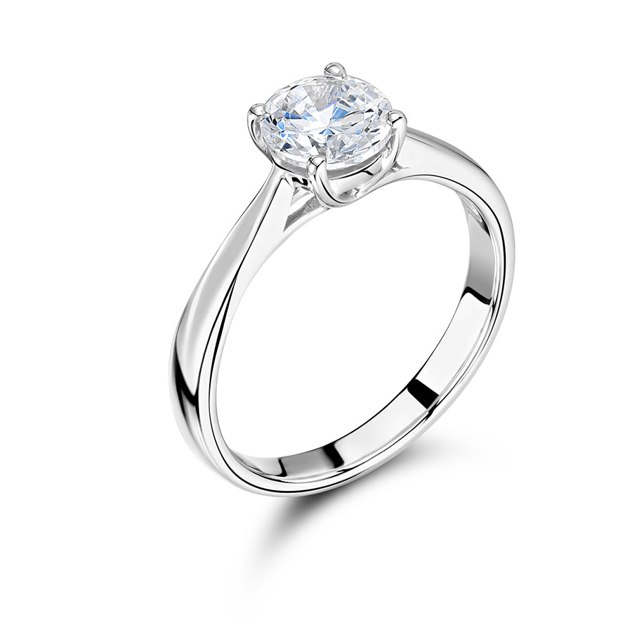 Round Solitaire with Tapered Shoulders - ER2240