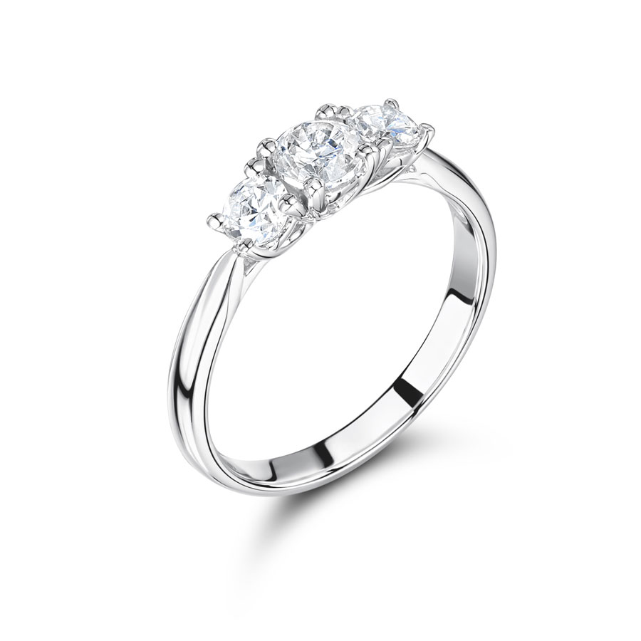 Graduated Round Trilogy Engagement Ring