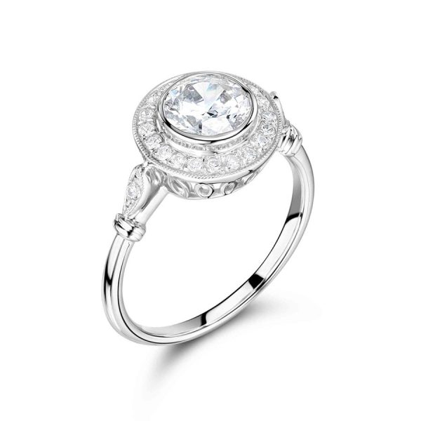 Antique Rubover Target Style Engagement Ring