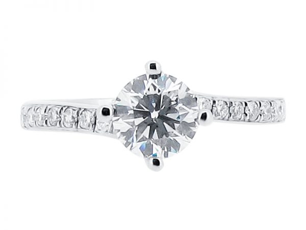 ER 1192 round compass solitaire pave