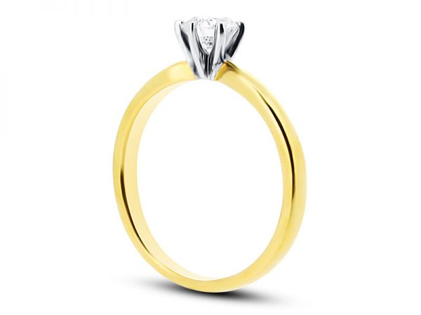 ER 1494 Round Solitaire 6 Claw Plain Side