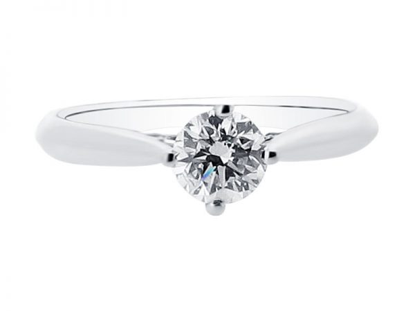 Round Brilliant Solitaire in Compass Setting Engagement Ring – ER 1508