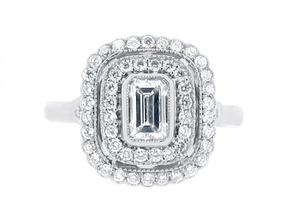ER 2020 emerald halo double pave