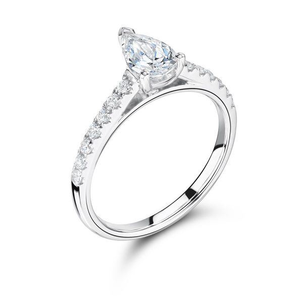 Pear Shaped Solitaire Engagement Ring ER2263
