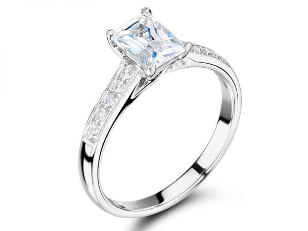 Radiant Solitaire in Crossover Setting