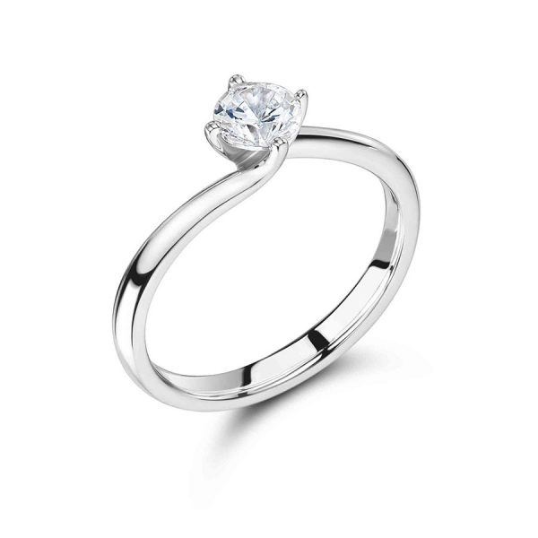 Round Solitaire with Low Twist Setting ER2405