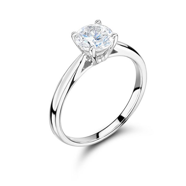 Round Solitaire with Tapered Shoulders ER2370