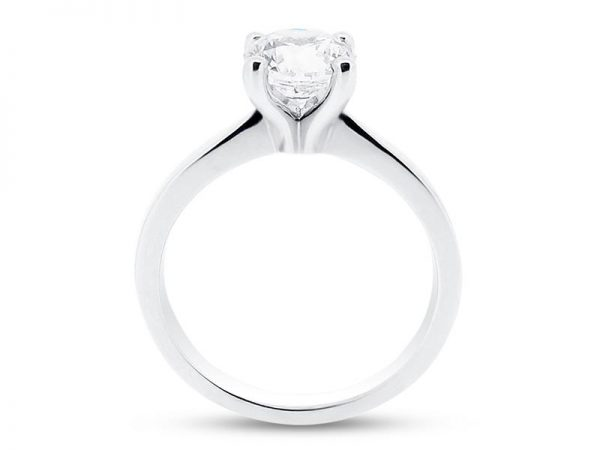 er 1014 side round solitaire plain engagement rings