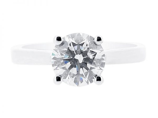 er 1018 round solitaire crossover plain engagement rings