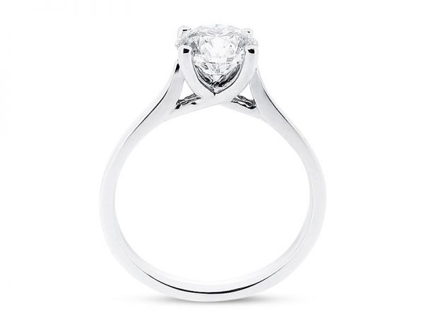 er 1018 side round solitaire crossover plain engagement rings