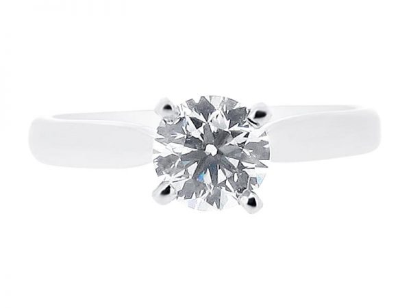 er 1044 round solitaire plain engagement rings