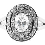 er 1051 oval double halo pave engagement ring