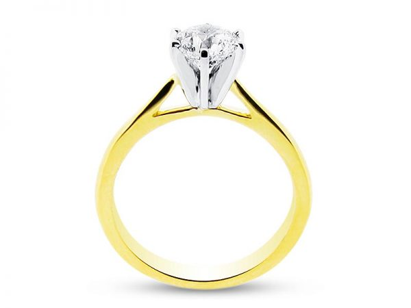er 1130 side round solitaire 6 claw plain engagement rings