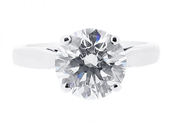 er 1134 round solitaire plain engagement rings