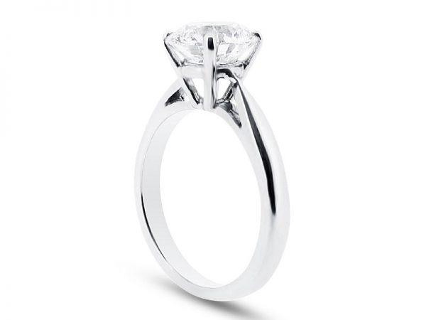 er 1134 side round solitaire plain engagement rings
