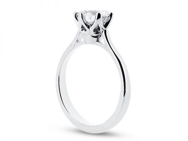er 1378 side round solitaire 6 claw plain engagement rings