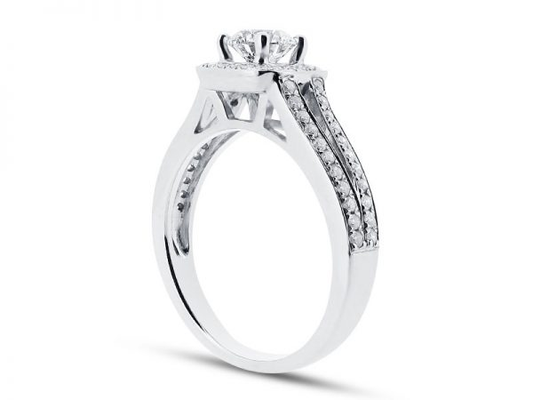 er 1393 side round halo pave engagement ring