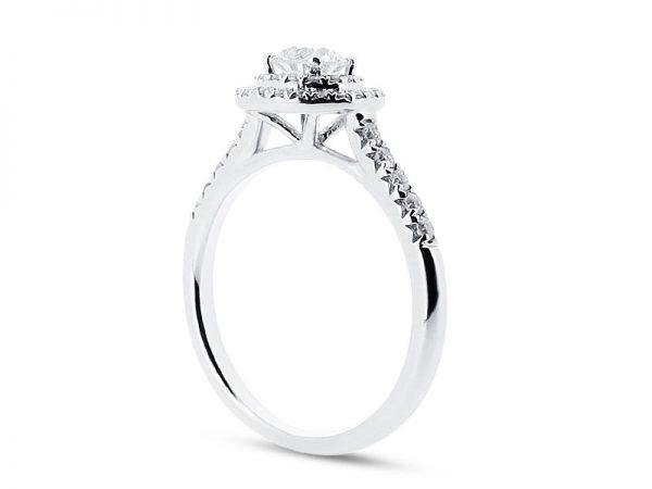 er 1432 side round double scallop halo engagement ring