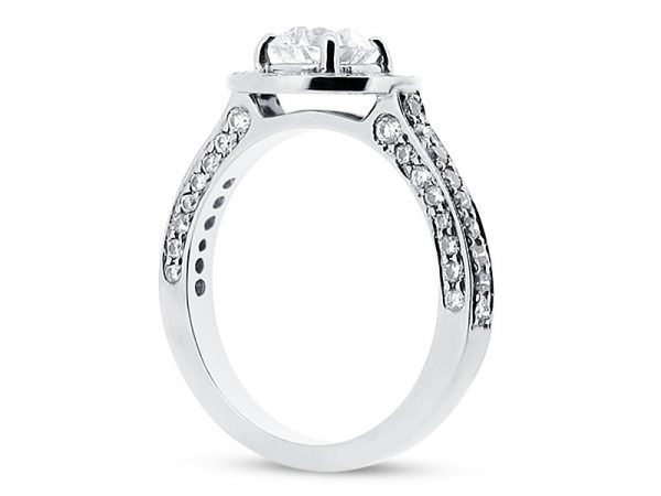 er 1491 round halo pave side engagement ring