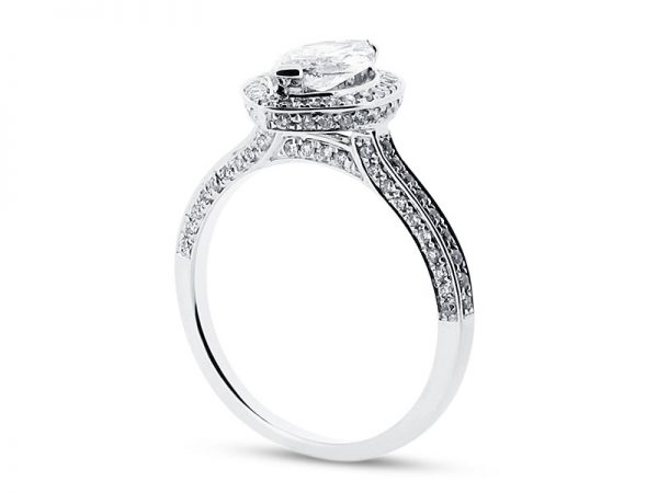 er 1511 side marquise halo pave engagement ring