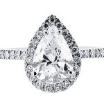 er 1528 pear halo scallop engagement ring