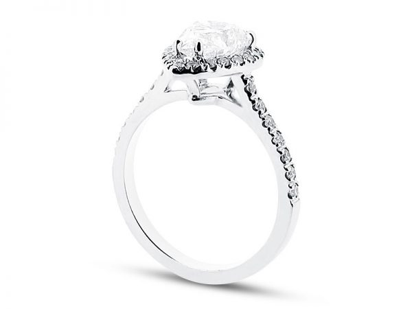 er 1528 side pear halo scallop engagement ring