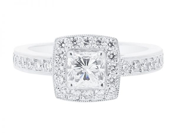 er 1552 round halo pave scroll engagement ring