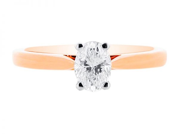 er 1558 oval 4 claw solitaire engagement rings