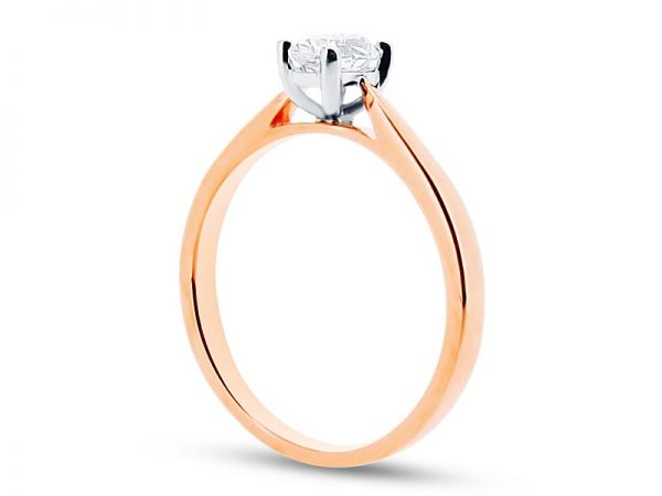 er 1558 side oval 4 claw solitaire engagement rings