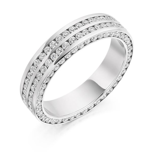 fet1828 wedding eternity diamond ring