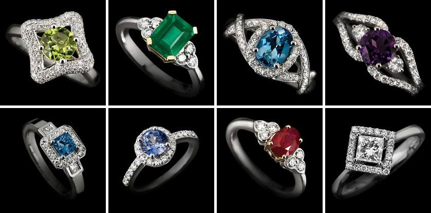 birthstone rings shapes