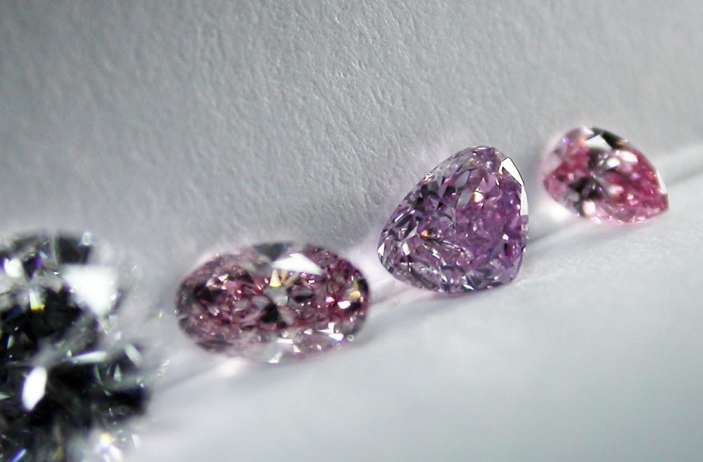 colored pink diamonds