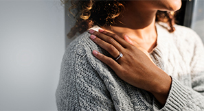 woman with wedding ring